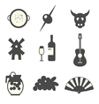 Symbols of Spain vector image vector image