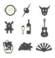 symbols spain vector image