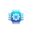 technology icon chipset and gear vector image vector image