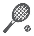 tennis glyph icon game and sport racket sign vector image