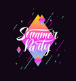 the original poster of the party banner summer vector image