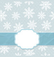 this is a christmas and new year frame vector image vector image