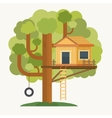 Tree house House on tree for kids vector image vector image