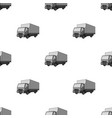 truck with awningcar single icon in monochrome vector image vector image