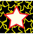 White and red star over stars background vector image vector image