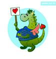 heart dragon vector image