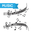 Music - Staff and Notes vector image