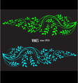 silhouette of vine and leaves floral decorative vector image