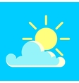 blue sky and the sun day icon vector image