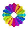 Rainbow flower logo vector image