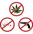 three warning signs vector image