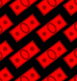 Blood money seamless pattern Dollars on fear and vector image