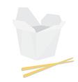 Noodle boxm with chopsticks vector image