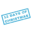 12 Days Of Christmas Rubber Stamp vector image vector image