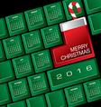 2016 Creative Keyboard Christmas Calendar vector image