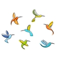 Abstract colorful hummingbirds vector | Price: 1 Credit (USD $1)