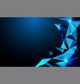 abstract futuristic molecules lines circuit board vector image vector image