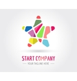 Abstract star logo template for branding vector image