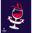 Alcohol theme art 3d realistic wine goblet vector image