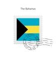 bahamas flag postage stamp