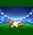 balls for team sport games vector image vector image