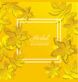 card with paper flower vector image vector image