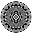 celtic mandala in black and white vector image vector image