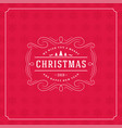 christmas retro typography quote and snowflakes vector image vector image