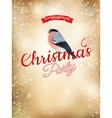 Christmas typography poster on gold bokeh EPS 10 vector image
