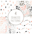 confetti seamless pattern set vector image vector image