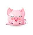 cute little piggy vector image vector image