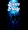 disco dancing people vector image vector image