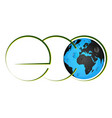 eco symbol and planet earth vector image vector image