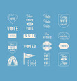 election day and voting theme overlay vector image