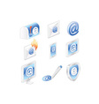 Email address icons vector image vector image