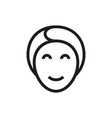 face mask icon on white background vector image vector image