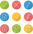 File manager linear icon set vector image vector image