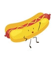 Funny fast food hot dog icon vector image