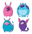 Furry monsters vector image vector image