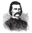 general john a logan vintage vector image vector image