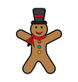 gingerbread man cookie icon image vector image vector image
