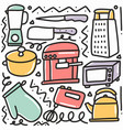 hand drawn doodle kitchen property with vector image