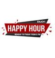 happy hour banner design vector image