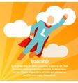 Leadership superhero poster vector image vector image