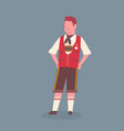 man wearing traditional german clothes oktoberfest vector image