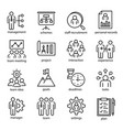 management linear or outline isolated icons vector image vector image