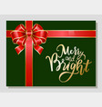 merry christmas greeting card for winter holiday vector image vector image