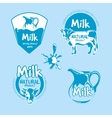Milk and dairy farm product logo set vector image vector image