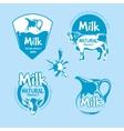 Milk and dairy farm product logo set