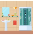 modern bathroom vector image vector image